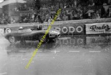 Jaguar D Type. Ivor Bueb At Speed Le Mans 1955 (1st) (b)